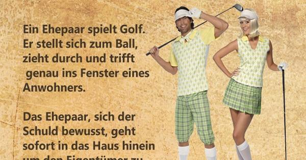 Ein Ehepaar spielt Golf 1