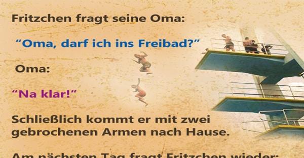 Fritzchen fragr seine Oma 1