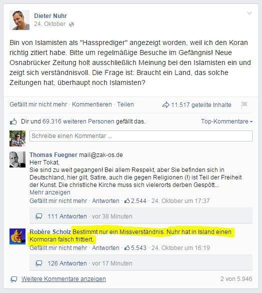 Dieter Nuhr u. Islam - ein Missverständnis