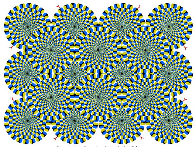 Optische Illusion das Bild ändert sich nicht