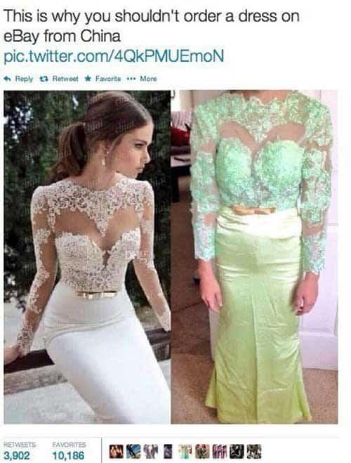 Hochzeitskleid von ebay aus china
