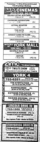 Movie listings (Jim McClure's blog) submitted