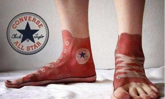 cipő tetkó
