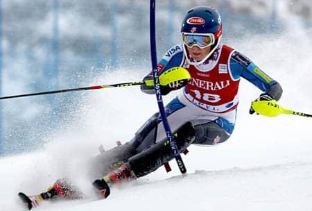 GEPA-10111243004 - LEVI,FINNLAND,10.NOV.12 - SKI ALPIN - FIS Weltcup, Slalom der Damen. Bild zeigt Mikaela Shiffrin (USA). Foto: GEPA pictures/ Mario Kneisl