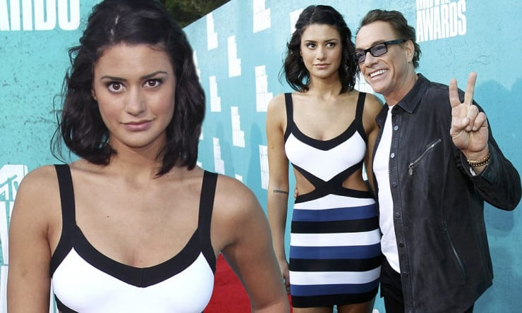 Actor Jean-Claude Van Damme and his daughter Bianca Bree arrive at the 2012 MTV Movie Awards in Los Angeles