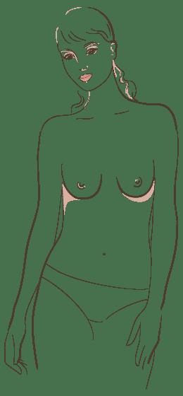 Brustformen verschiedene Verschiedene Brustformen: