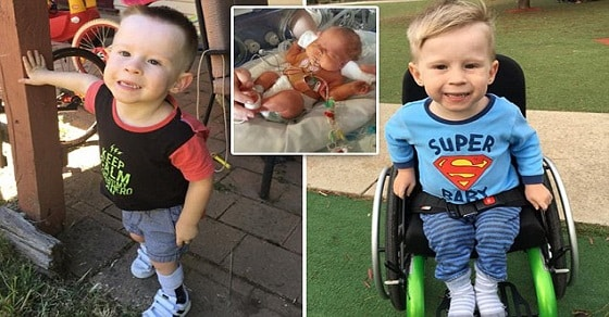 Amy McNamara's son Jett was born without part of his spine