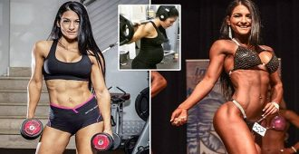 mum who lifted weights throughout pregnancy wins bodybuilding bikini comp - FEMAIL